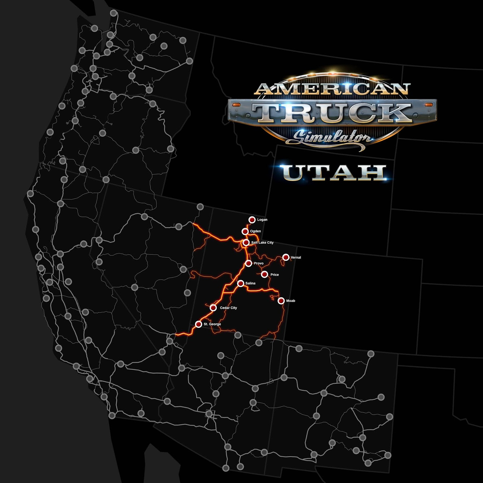 Utah Road map big